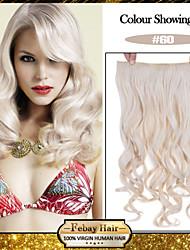 5 clips ondulado 60 # pinza de pelo sintético en extensiones de cabello para damas más colores disponibles