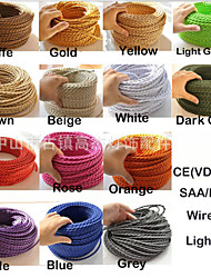 Ecolight® 5M/Lot vintage fabric copper conductor eletrical 2 wire 0.75mm suitable for edison bulb