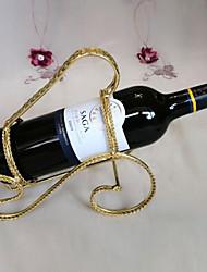 suporte para garrafa de vinho rack do vintage ofício do metal com alça (cor aleatória)