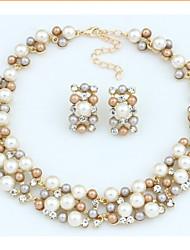 Collier / Boucles d'Oreille ( Alliage / Strass / Imitation Perle ) Vintage / Soirée pour Femme