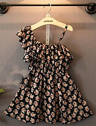 Kid's Dress , Chiffon Casual/Cute/Party Ellasa