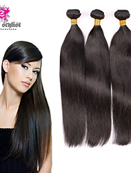 "3pcs/lot 10""-26"" Unprocessed Virgin Mongolian Straight Hair Weave Bundles Human Hair Extension Tangle Free"