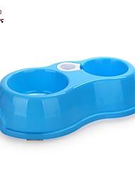 Cat Dog Bowls & Water Bottles Pet Baskets Waterproof Portable Blue Pink Plastic