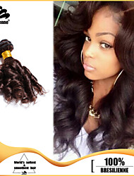3pcs Brazilian Hair Bundles Weaves Dark Brown Fummi Hair Weft 100% Unprocessed Brazilian Human Hair Weft