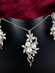 Casual Platinum Plated Necklace Wedding jewelry Sets Bridal Wholesale Price
