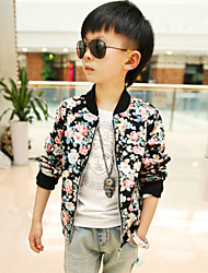 Boy's Fashion Florals Stitching Jacket