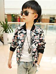 Boy's Fashion Florals Stitching Jacket