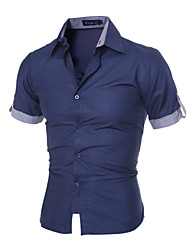 Men's Slim Fit Business Short Sleeve  Dress  Shirt
