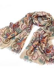 Retro Totem Long Scarf Shawl Cotton