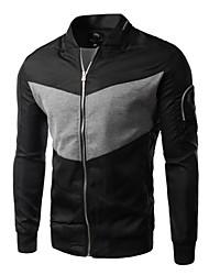 Men's Long Sleeve Jacket , Cotton Casual/Sport