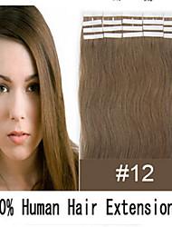 Tape Haarverlängerungen pu Hauteinschlag # 613 Bleichmittel blonde 20 Stück / Pack