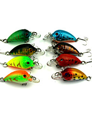 "8 pcs Manivela Cebos Manivela Colores Surtidos g/Onza mm/1-3/4"" pulgada,Plástico duro Pesca de Mar Pesca de agua dulce Pesca de Perca"