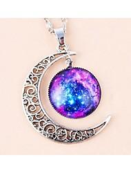 LJD Moon Star Gemstone Necklace