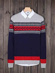 2015 men pure grey sweater slim sleeve T-shirt sweater autumn winter men sweater tide
