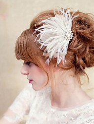 Hand Made Wedding Feather Hair Clip Fascinator Headpieces Fascinators 011