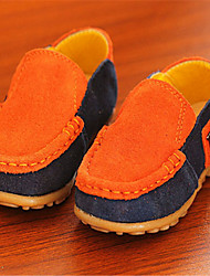 Baby Shoes Casual Leather Loafers Green/Orange