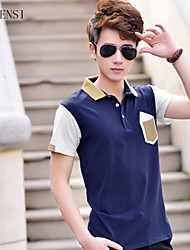 In the summer of 2015 new men's casual T-shirt slim Korean half sleeve polo shirt POLO tide