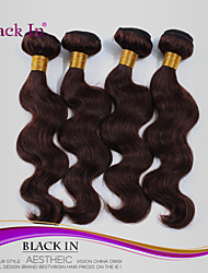 "4 Pcs Lot 12""-30"" Brazilian Body Wave Virgin Hair Wefts Chocolate Brown Remy Human Hair Weave Tangle Free"