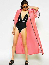 contraste das mulheres aparar quimono longa praia