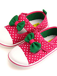 Baby Shoes Outdoor/Casual Canvas Flats Blue/Pink/Red