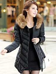 Women's Coats & Jackets , Cotton Bodycon/Casual Long Sleeve BLS