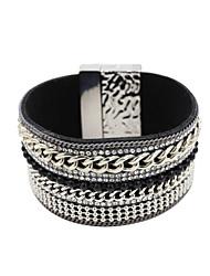 Bracelets en cuir ( Alliage/Cuir/Strass ) Mariage/Soirée/Quotidien/Casual/Sports