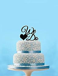 We Do Wedding Cake Topper (More Colors)