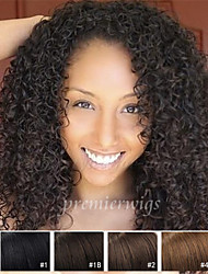 12''-26''Deep Wave Indian Virgin Hair Summer Fashion Style Lace Front Wigs With Baby Hair For Black Women
