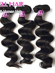 """3 pcs lote 8 cabelo virgem onda solta malaio tramas naturais 1b preto # Remy bundles """"-30"""" tecer cabelo humano"""