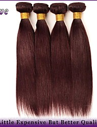 "4Pcs/Lot 10""-26"" Malaysian Virgin Hair Straight Burgundy Pure Color 100% Human Hair Weaving 99J Grace Hair Products"