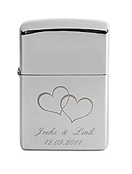 Personalized Engrave Heart Pattern Metal Oil Lighter