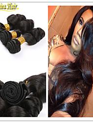 3pcs / lot capelli umani non trattati capelli brasiliani grado superiore 8 estensione vergine di vendita caldo trama larga