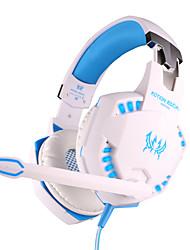 cada fone de ouvido com fio g2100 3,5 milímetros ao longo do jogo controle de volume vibração ouvido com microfone para pc