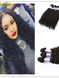 3pcs/Lot Hot Sale Hair Products 8A Brazilian Virgin Human Hair Deep Wave 3 pcs Hair weft 100% unprocessed hair in stock