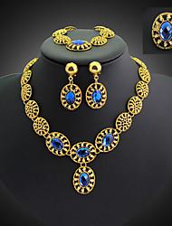 Vintage / Party - Damen - Halskette / Ohrring / Armband / Ring (Vergoldet / Legierung / Zirkonia)