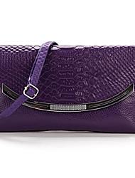 Women Casual PU/Cowhide Zipper Shoulder Bag/Clutch