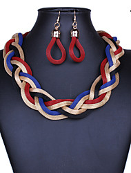 Coarse Chain Women Vintage/Cute/Party/Casual Alloy Necklace/Earrings Sets