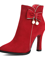 Women's Shoes Chunky Heel Fashion Boots Boots Party & Evening/Dress/Casual Red