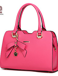 Handcee® Good Quality Simple Elegant Design Woman Handbag with Bowknot Decoration