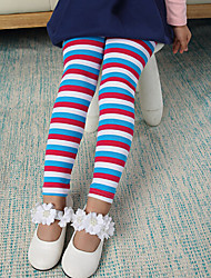 Girl's Cotton Striped Leggings , Winter/Fall