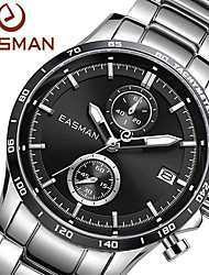 EASMAN Brand Watch Men New 2015 Brand Black Multifunction Fashion Sport Watches Steel Wristwatch Auto Date Quartz Watch