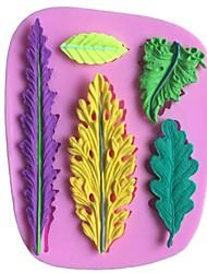 deixa moldes de chocolate em forma de silicone folha fondant bolo, ferramentas de decoração bakeware