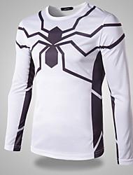 Men's Spider-Man   Printing Long  Sleeved T-shirt