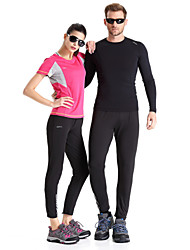 Clothin Unisex Men/Women Polytester Tight Cycling Long Pants Track Pants Warm-Up Pants Black S-2XL