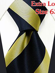 Men's Business Stripes Yellow Ties