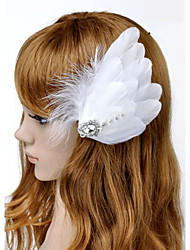 Hand Made Wedding Feather Hair Clip Fascinator Headpieces Fascinators 018