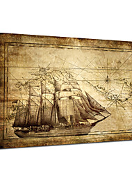 VISUAL STAR®World Maps Stretched Canvas Printing Vintage Canvas Painting Ready to Hang
