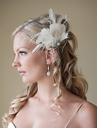 Hand Made Wedding Feather Hair Clip Fascinator Headpieces Fascinators 008