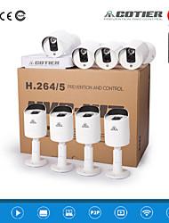 kits nvr cotier®8ch Mini nvr hdmi con 720p / 960p / 1080p / exterior / ir de la cámara a distancia / p2p / ip n8b3-mini / l