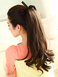 Excellent Quality Synthetic Ombre Long Curly Clip In Ribbon Hairpiece Ponytail